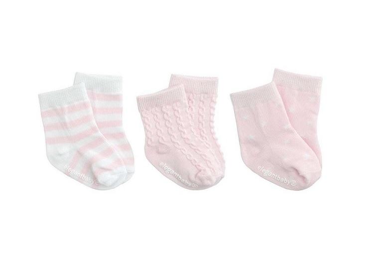 Elegant Baby Girls First Sock Set Tulips
