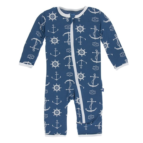 Kickee Pants Twilight Anchor Coverall
