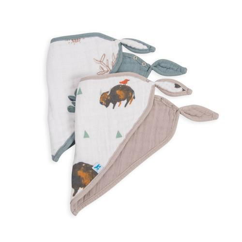 Little Unicorn Bison Bandana Bib Set