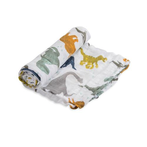 Little Unicorn Dino Friends Single Swaddle