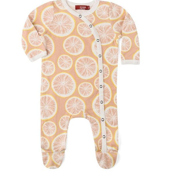 Milkbarn Grapefruit Organic Footed Romper