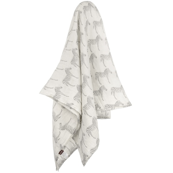 Milkbarn Grey Zebra Swaddle Blanket