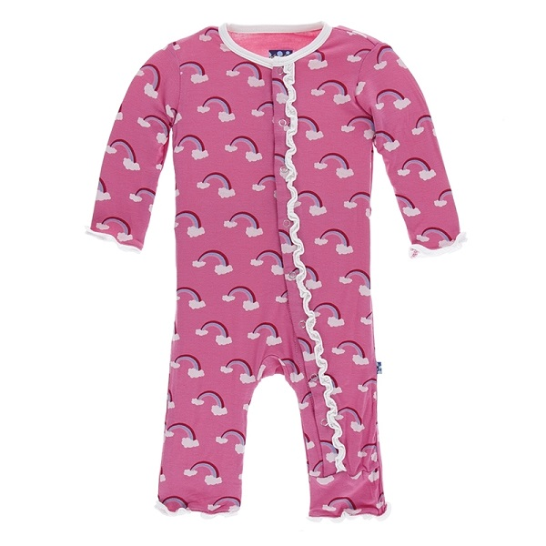 Kickee Pants Flamingo Rainbow Snap Coverall