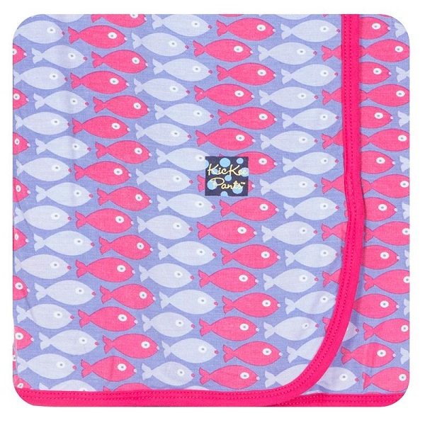Kickee Pants Forget Me Not Piranha Swaddle Blanket
