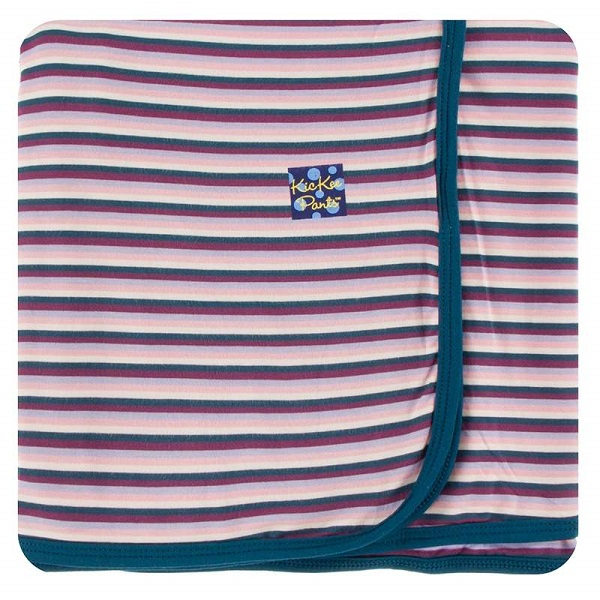Kickee Pants Girl Anniversary Stripe Swaddle Blanket