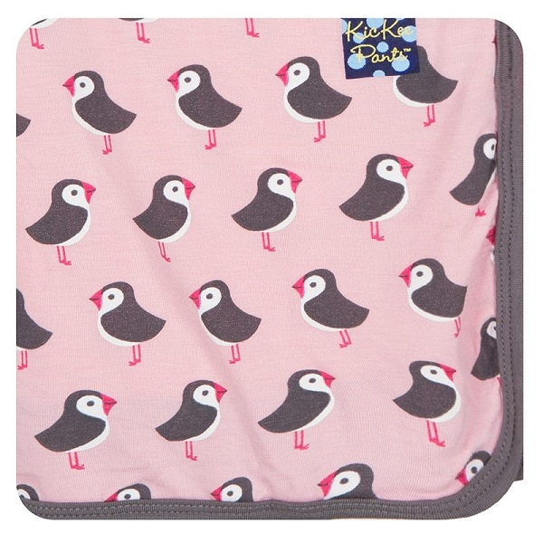 Kickee Pants Lotus Puffin Swaddle Blanket