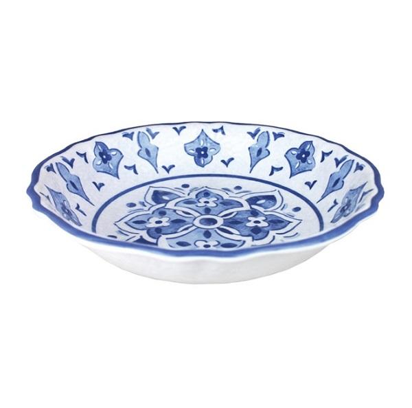 Le Cadeaux Moroccan Blue 14″ Melamine Bowl