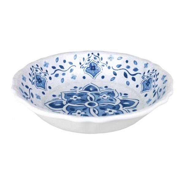 Le Cadeaux Moroccan Blue 10″ Melamine Bowl