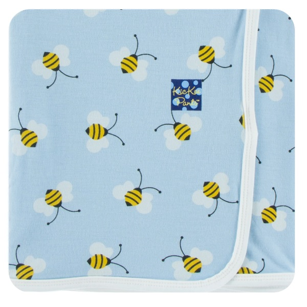 Kickee Pants Pond Bees Swaddle Blanket