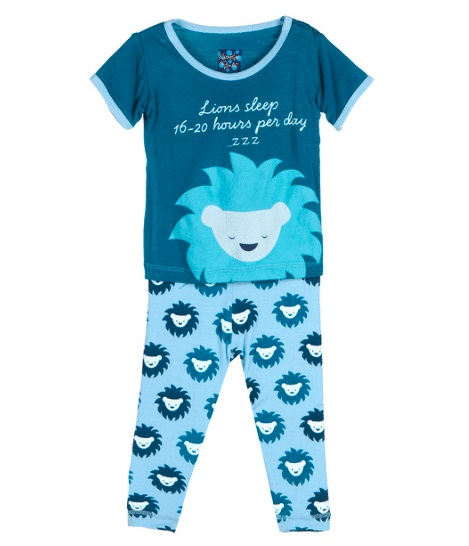 Kickee Pants Pond Sunshine Lion Pajama Set