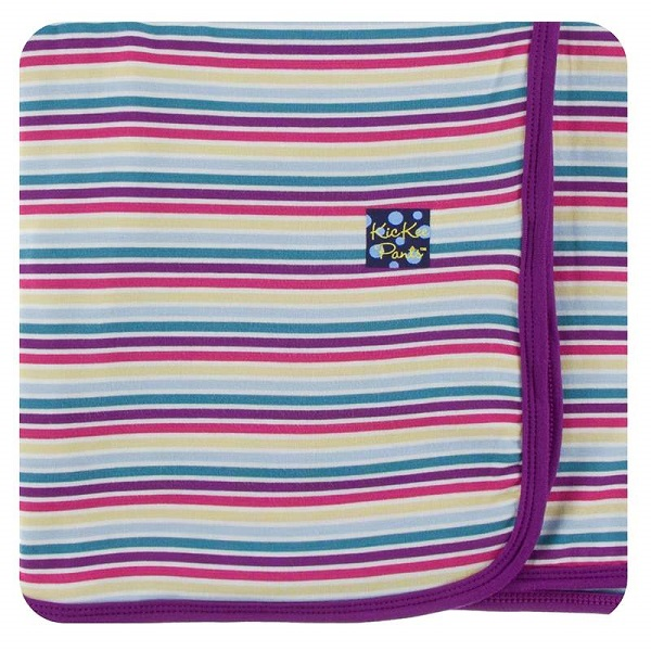 Kickee Pants Girl Perth Stripe Swaddle Blanket