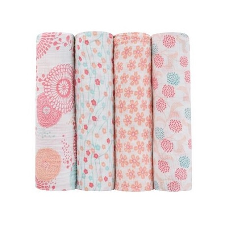 Aden + Anais Tea Global Garden Classic Swaddle 4-Pack