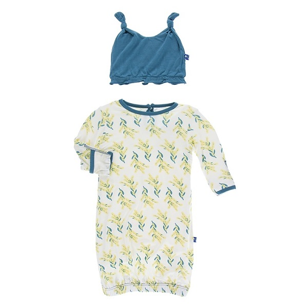 Kickee Pants Golden Wattle Layette Gown Set