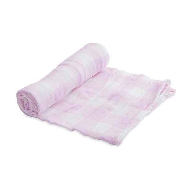Little Unicorn Lilac Plaid Single Swaddle