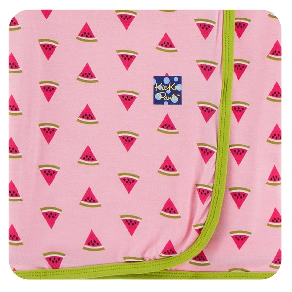 Kickee Pants Lotus Watermelon Swaddle Blanket