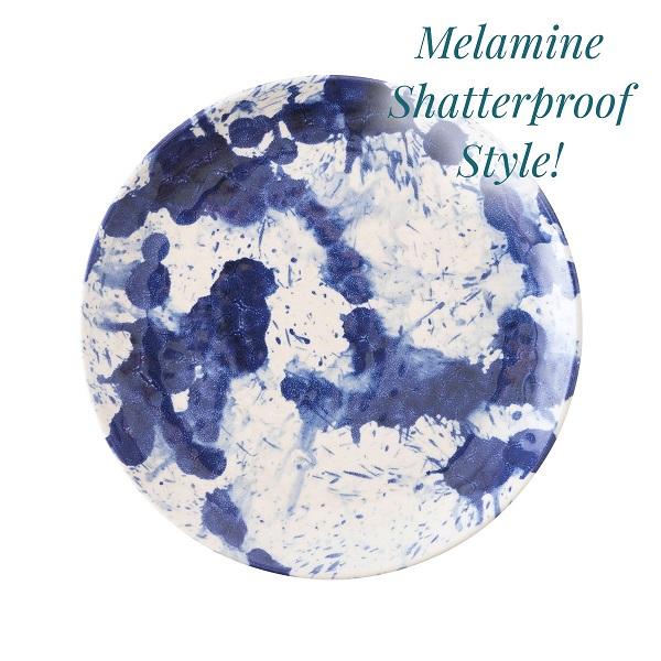 Juliska Splatter & Spin Melamine Salad Plate