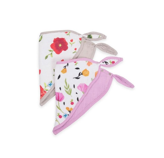 Little Unicorn Summer Poppy Bandana Bib Set