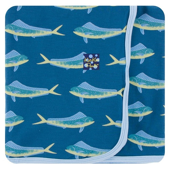 Kickee Pants Twilight Dolphin Fish Swaddle Blanket