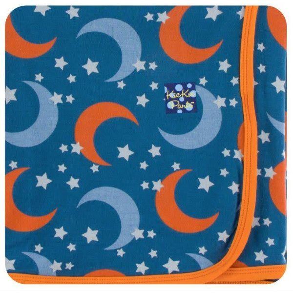 Kickee Pants Twilight Moon & Stars Swaddle Blanket