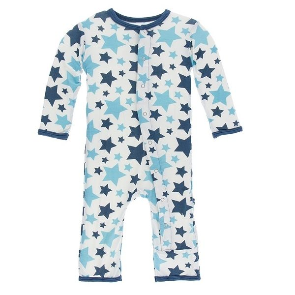 Kickee Pants Confetti Star Snap Coverall