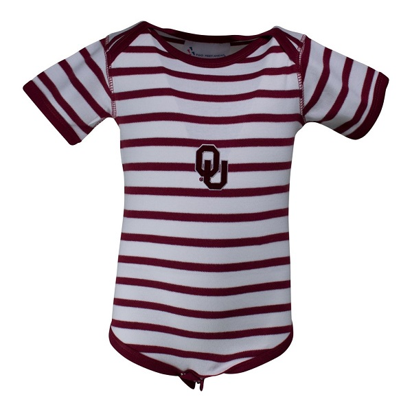 Oklahoma Stripe Lap Shoulder Onesie