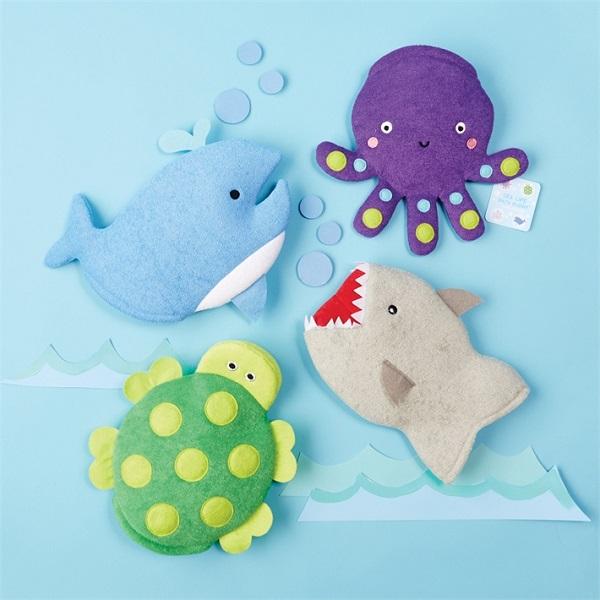 Sea Life Wash Mitts