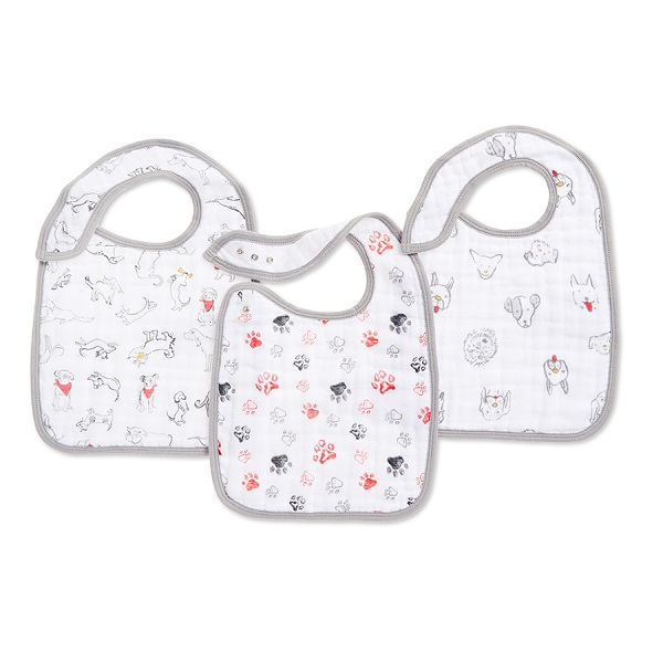 Aden + Anais Year Of The Dog Snap Bibs