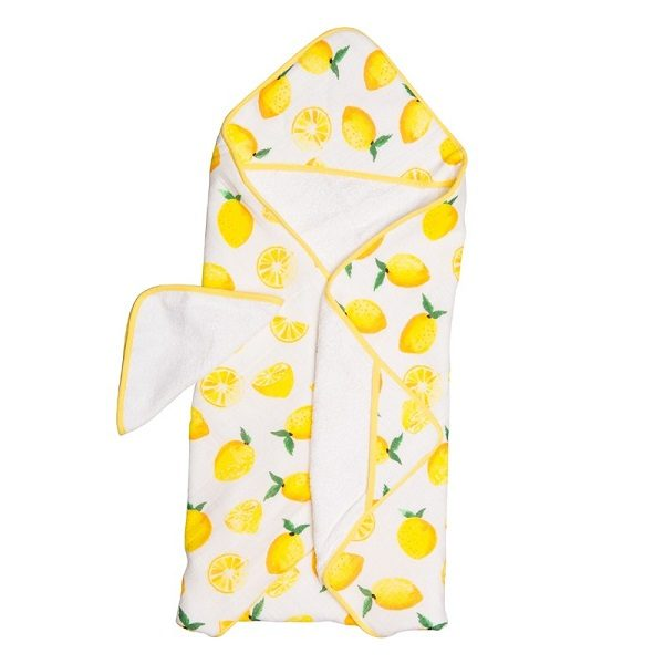 Little Unicorn Lemon Hooded Towel Set