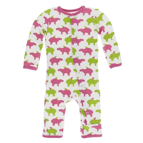 Kickee Pants Natural Capybara Snap Coverall
