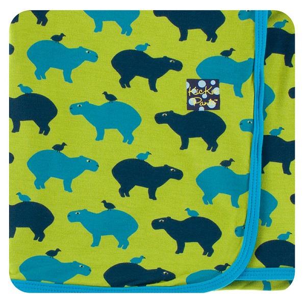 Kickee Pants Meadow Capybara Swaddle Blanket