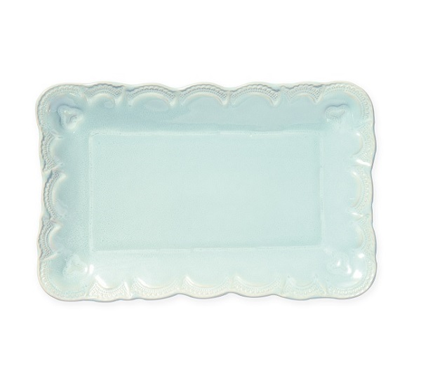 Vietri Incanto Stone Lace Small Rectangular Platter