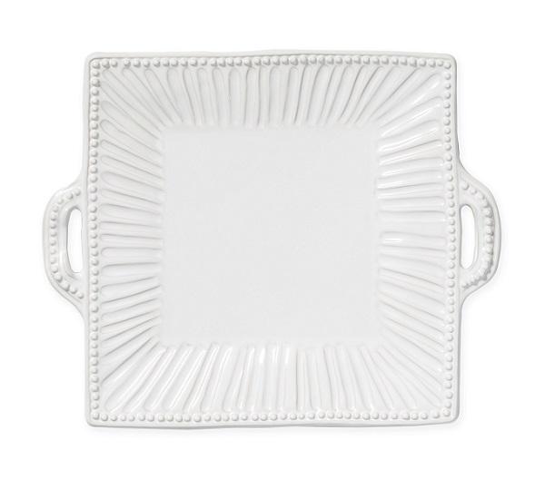 Vietri Incanto Stone Stripe Square Handled Platter