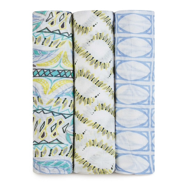 Aden + Anais Classic Swaddle 3 Pack- Wild One