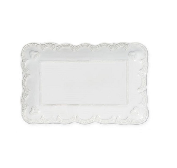 Vietri Incanto Stone Lace Rectangle Platter