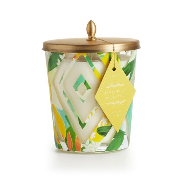 Illume Pineapple Cilantro Cameo Candle