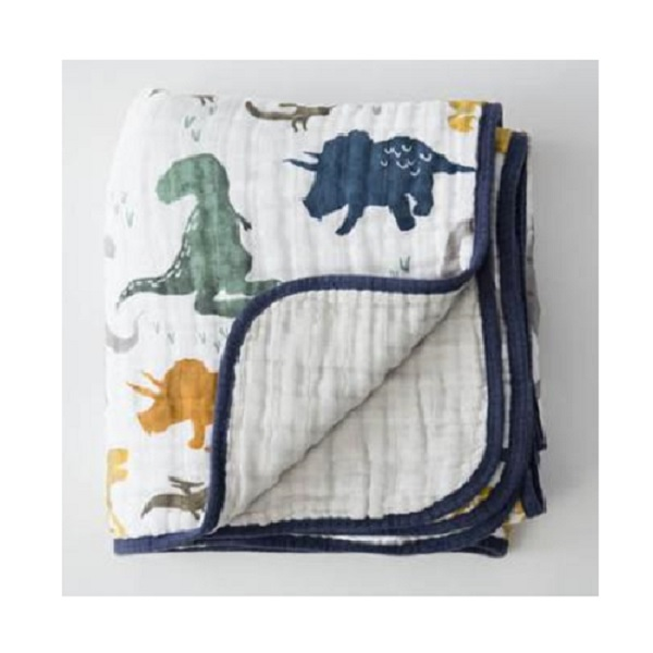 Little Unicorn Dino Friends Muslin Quilt
