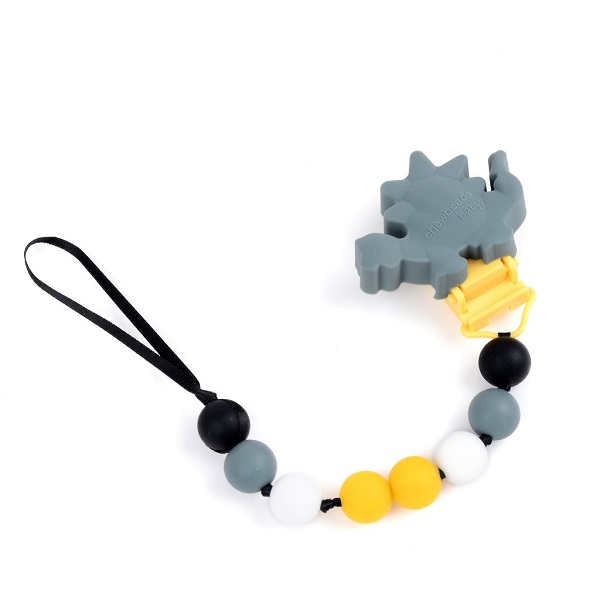 Chewbeads Dino Pacifier Clip