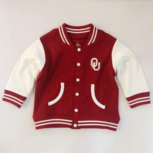 Crimson OU Varsity Jacket