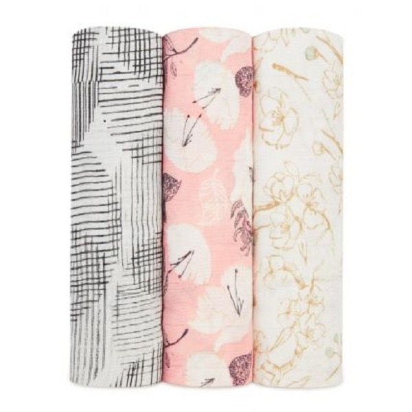 Aden + Anais Swaddle 3-Pack Pretty Petals