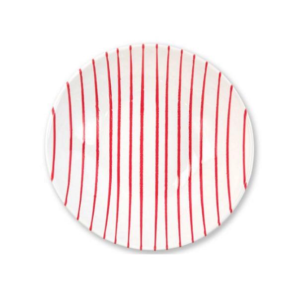 Vietri Stripe Red Medium Serving Bowl