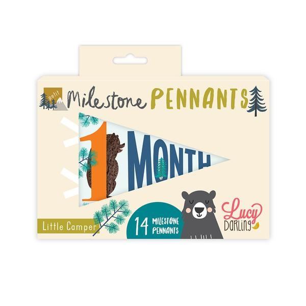 Lucy Darling Little Camper Milestone Pennants