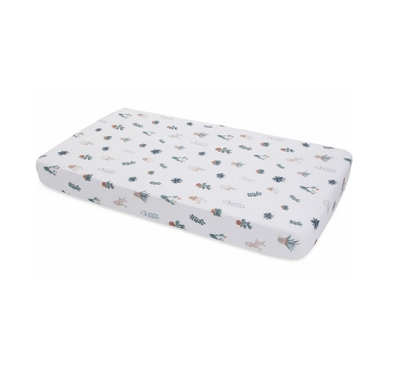 Little Unicorn Prickle Pots Cotton Muslin Fitted Sheet