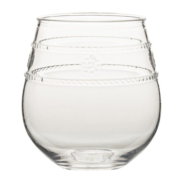 Juliska Isabella Acryic Stemless Red Wine Glass