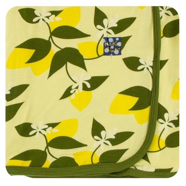Kickee Pants Lime Blossom Lemon Tree Swaddle