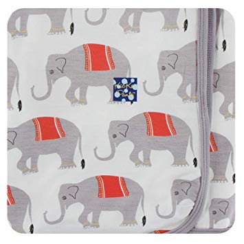 Kickee Pants Natural Indian Elephant Swaddle