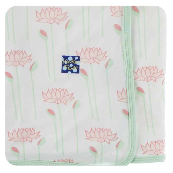 Kickee Pants Natural Lotus Flower Swaddle