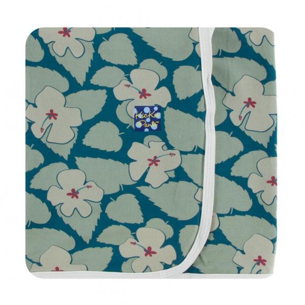 Kickee Pants Oasis Hibiscus Swaddle Blanket