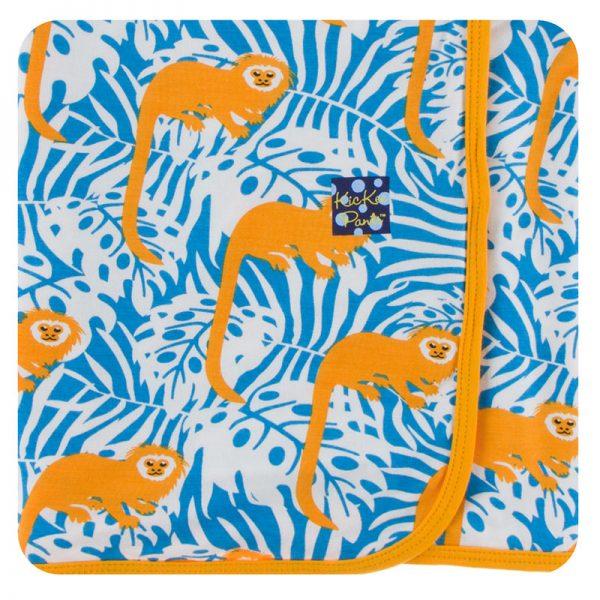 Kickee Pants Tamarin Monkey Swaddle Blanket