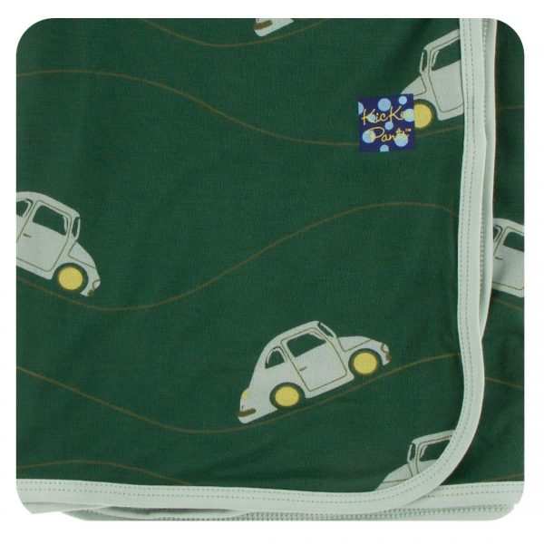 Kickee Pants Topiary Italian Car Swaddle Blanket