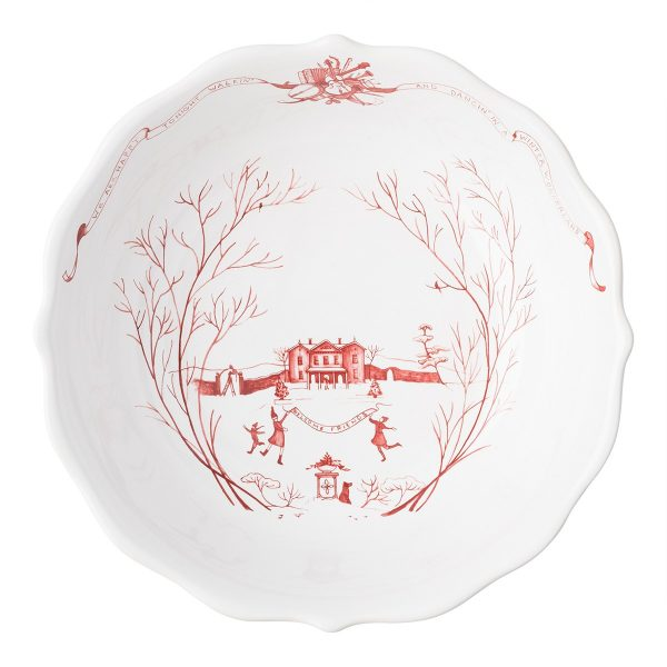 Juliska Country Estate Winter Frolic Ruby 10″ Serving Bowl